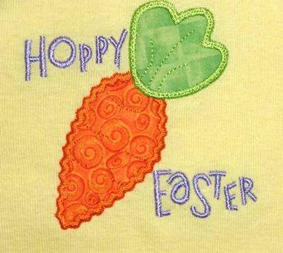 Hoppy Easter Carrot Applique Shirt