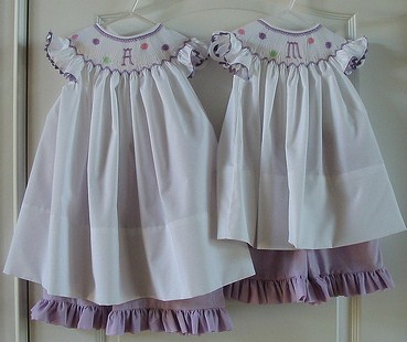 Custom Smocked Easter Initial Top And Ruffle Capri Set