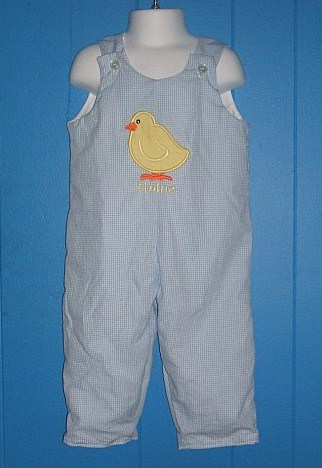Custom Easter Chick Applique Longall