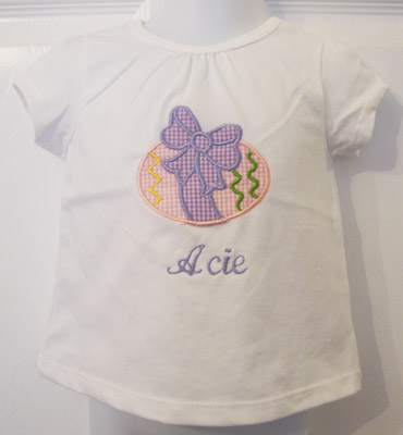 Custom Applique Easter Egg Shirt