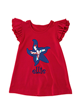 Kelly's Kids Angel Sleeve Applique Top 5/6