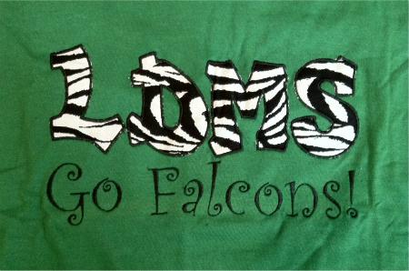 Custom Applique Lake Dallas Middle School Shirt