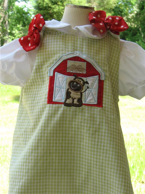 Custom Aline Cow Farm Dress