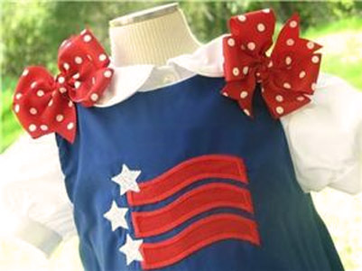 Custom Aline Flag Forth of July Dress