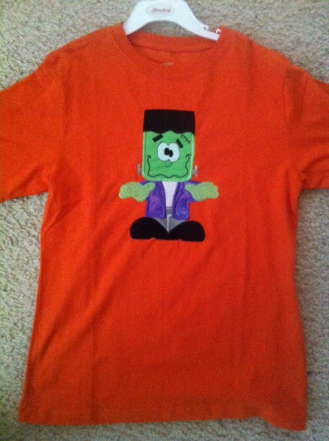 Custom Applique Halloween Frankenstein Shirt