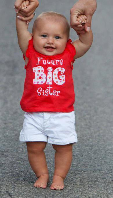 Custom Applique Future Big Sister Applique Shirt