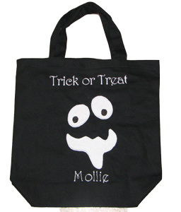 Custom Applique Halloween Ghost Tote Bag