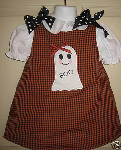 Custom Applique Ghost Aline Dress