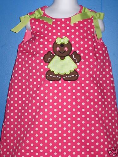 Custom Boutique Gingerbread Girl Christmas Dress