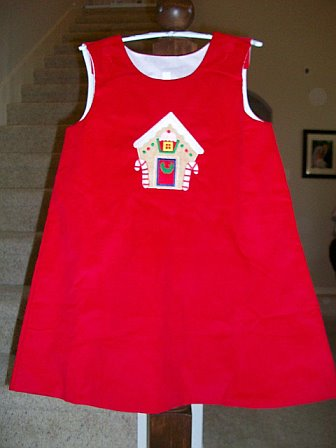 Custom Made Gingerbread House Christmas Dress