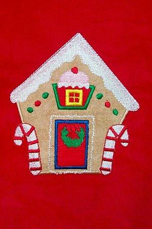 Custom Made Gingerbread House Christmas Dress