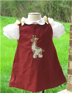 Custom Aline Giraffe Dress