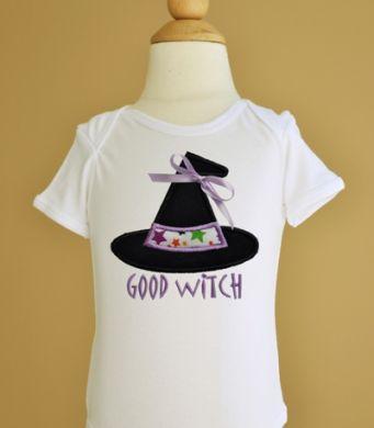 Custom Applique Good Witch Halloween Shirt
