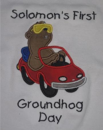 Custom Applique Groundhog Shirt (2)