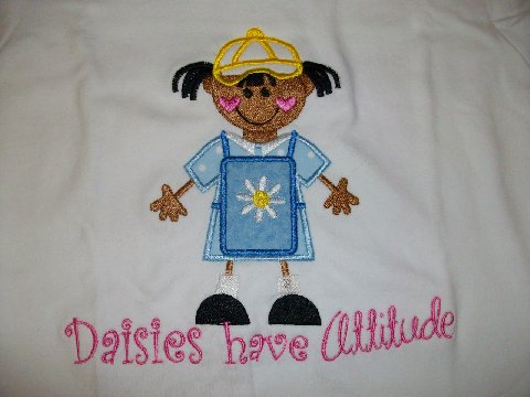 Daisies Have Attitude (wearing hat) Girl Scout Shirt