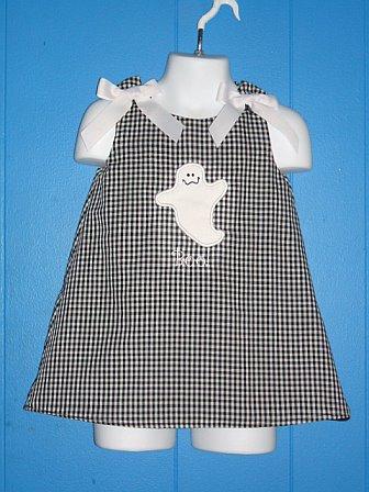 Custom Applique Ghost Halloween Dress