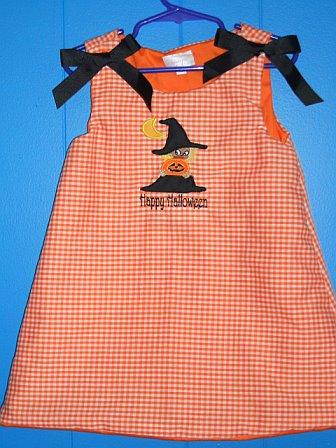 Custom Halloween Witch Applique Dress