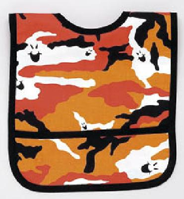 Laminated Halloween Ghost Print Fabric Bib