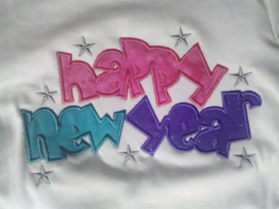 Custom Applique Happy New Year Shirt