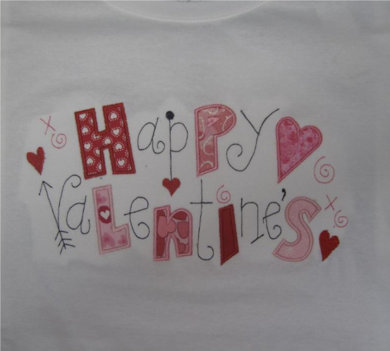 Custom Applique Happy Valentine's Shirt