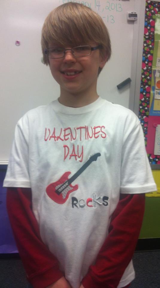 Custom Guitar Valentine's Day Rocks Shirt