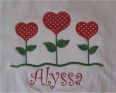 Custom Applique Heart Flower Valentine's Day Shirt