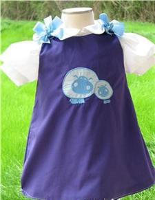 Custom Aline Applique Hippo Dress