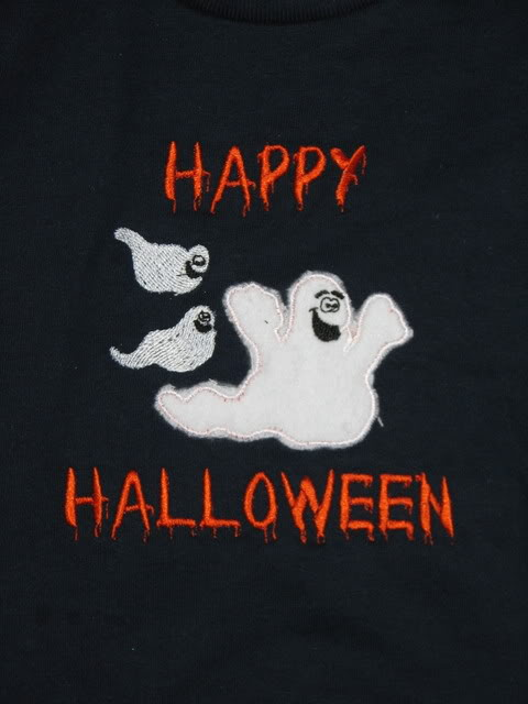 Custom Applique 3 Ghost Halloween Shirt