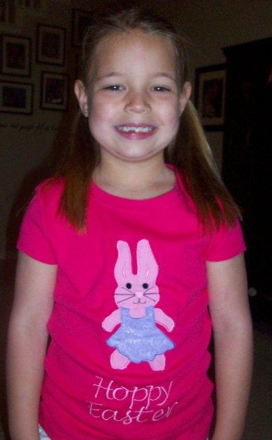 Custom Applique Girl Easter Bunny Shirt