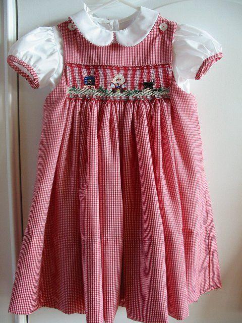 Custom Smocked Humpty Dumpty Dress
