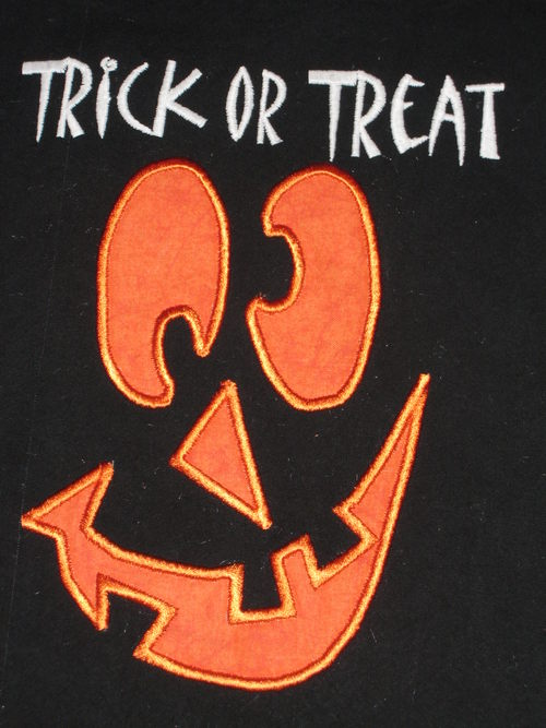 Custom Applique Halloween Trick Or Treat Bag- girl/boy
