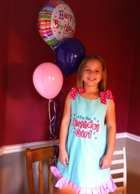 Custom Applique I'm The Birthday Girl Dress