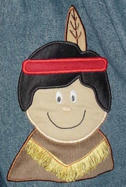 Custom Applique Boy Indian Thanksgiving Shirt