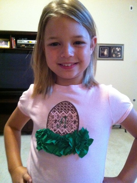 Custom Applique Initial Easter Egg Shirt