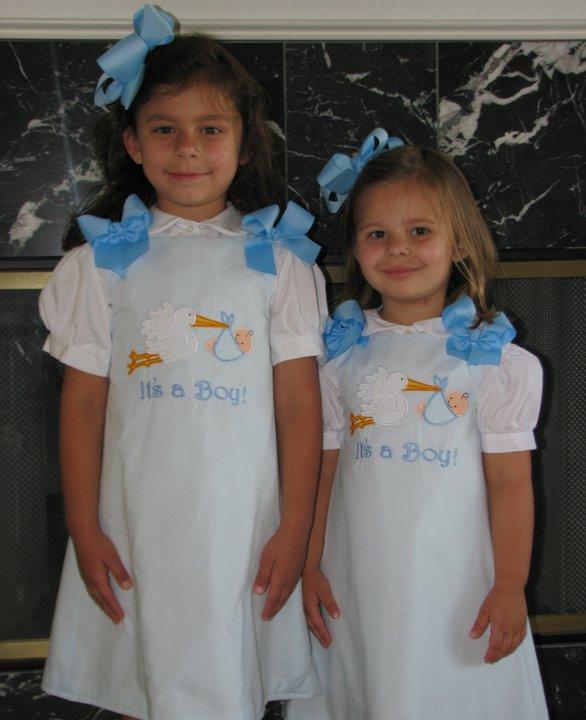 Custom Boutique Big Sister Stork Dress