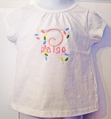Custom Easter Jelly Beans Initial Name Shirt