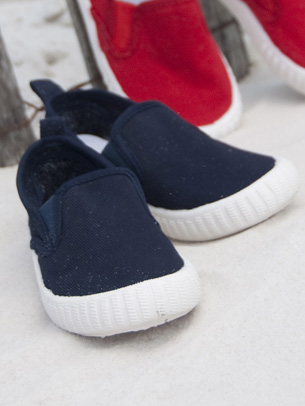 Kelly's Kids Navy  Boat Shoe
