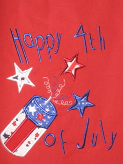Happy 4th of July Applique Shirt