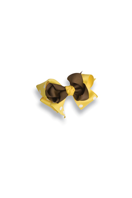 Kelly's Kids Small Bow Yellow/Brown