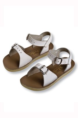 Kelly's Kids White Sun-San Sandals