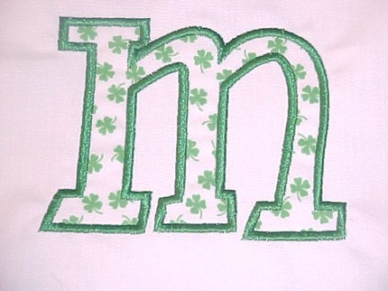 Custom Applique St. Patrick's Day Initial Shirt