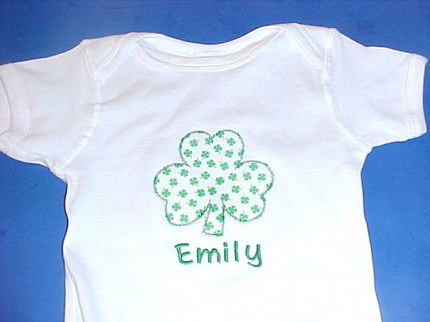 Custom Applique Shamrock St. Patrick's Day Shirt