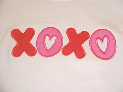 Custom Applique XOXO Valentine Shirt