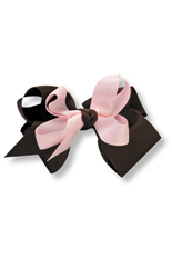 Kelly's Kids Large Pink and Brown Bow