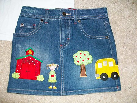 Custom Applique Kindergarten/Preschool  School Rocks! Shirt and Skirt Oufit