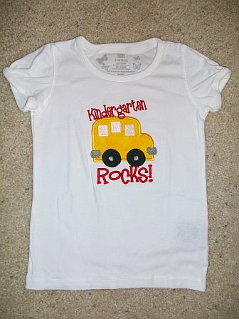 Custom Applique Preschool/Kindergarten Rocks Bus Shirt