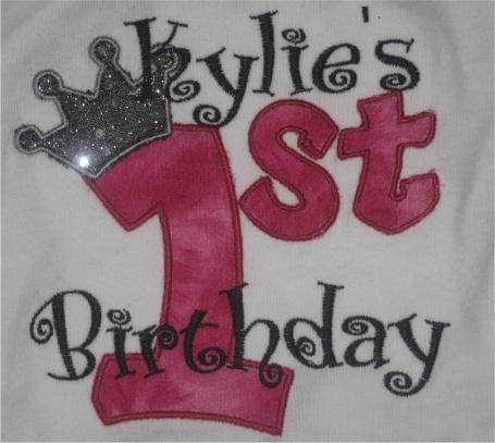 Custom Applique Birthday Crown Shirt