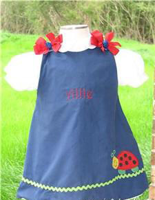 Custom Aline Ladybug Dress (navy)