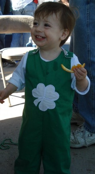 Custom Applique St. Patrick's Day Shamrock longall