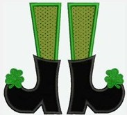 Custom Applique Ms Leprechaun Shoes Shirt